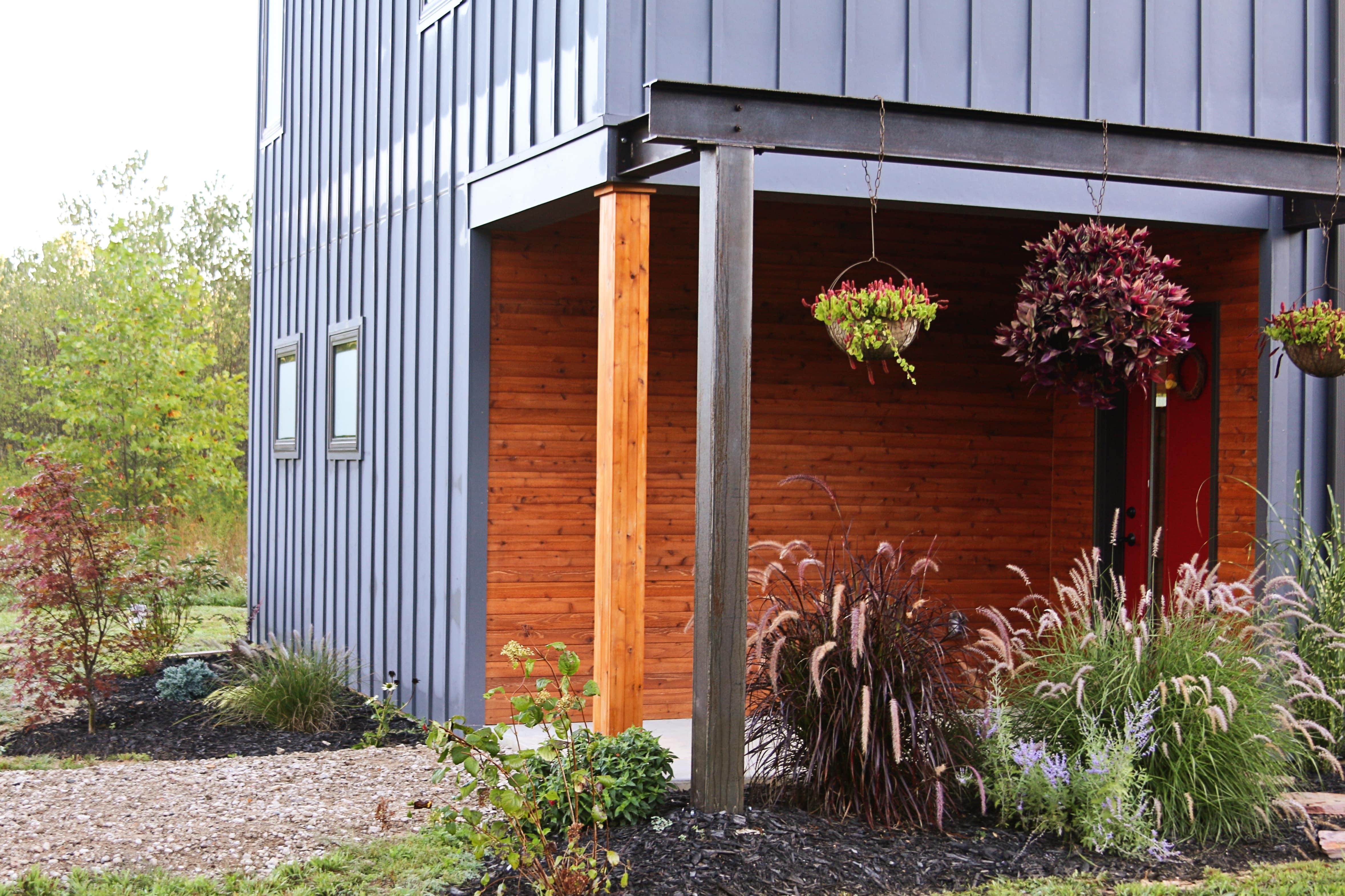 steel-beam-rustic-entrance