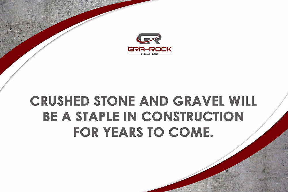 crushed stone and gravel are used in construction