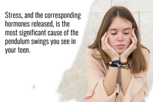 stress is the most significant cause of mood swings in your teen