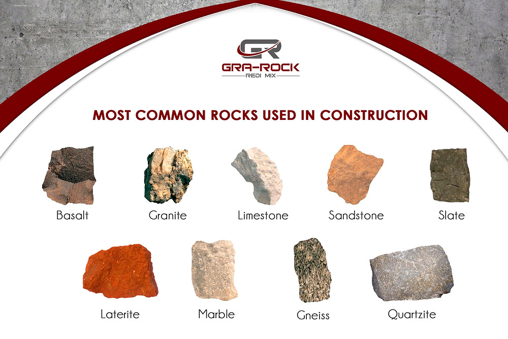common rocks used in construction
