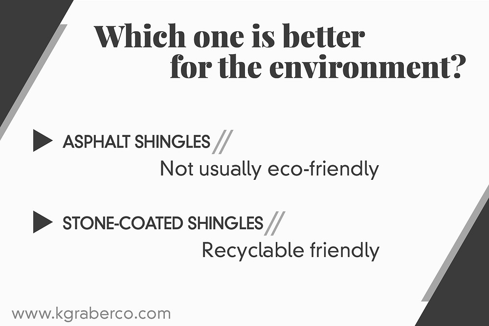 asphalt or stone coated shingles more eco friendly
