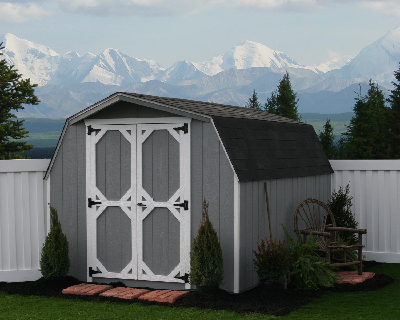 8x12 Wood Mini Barn