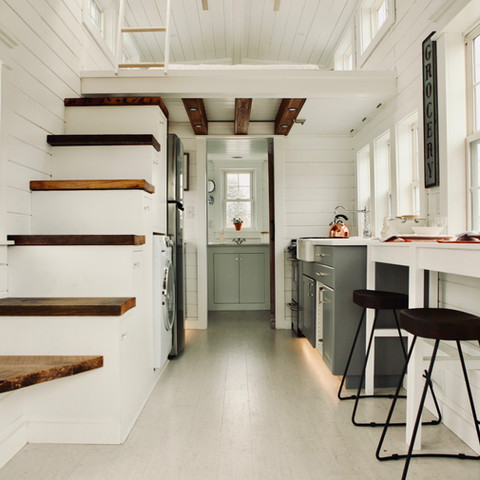 Forward interior view of tiny home