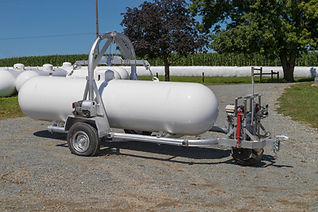 propane tank on cart