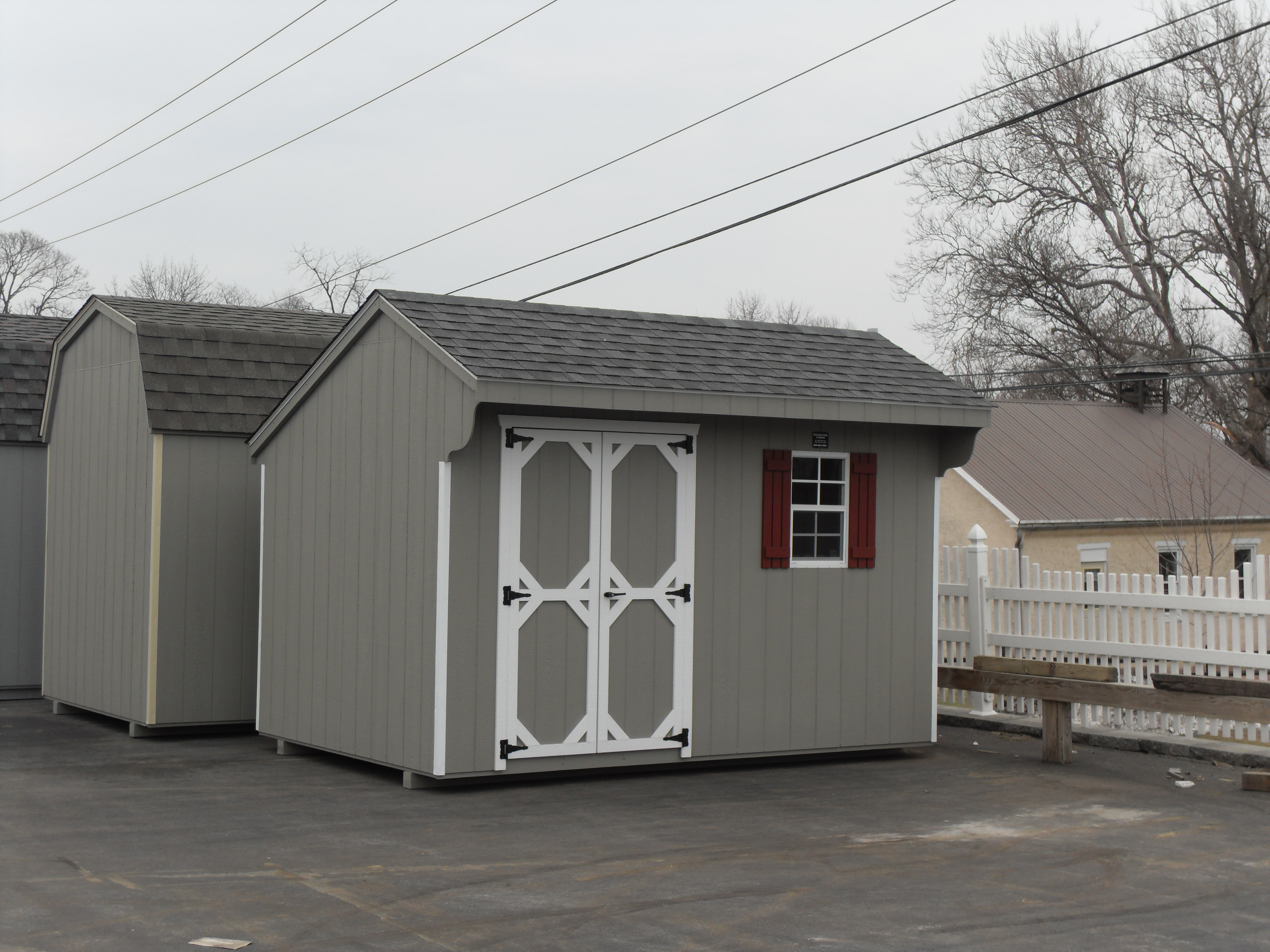 8x12 Wood Carriage Shed