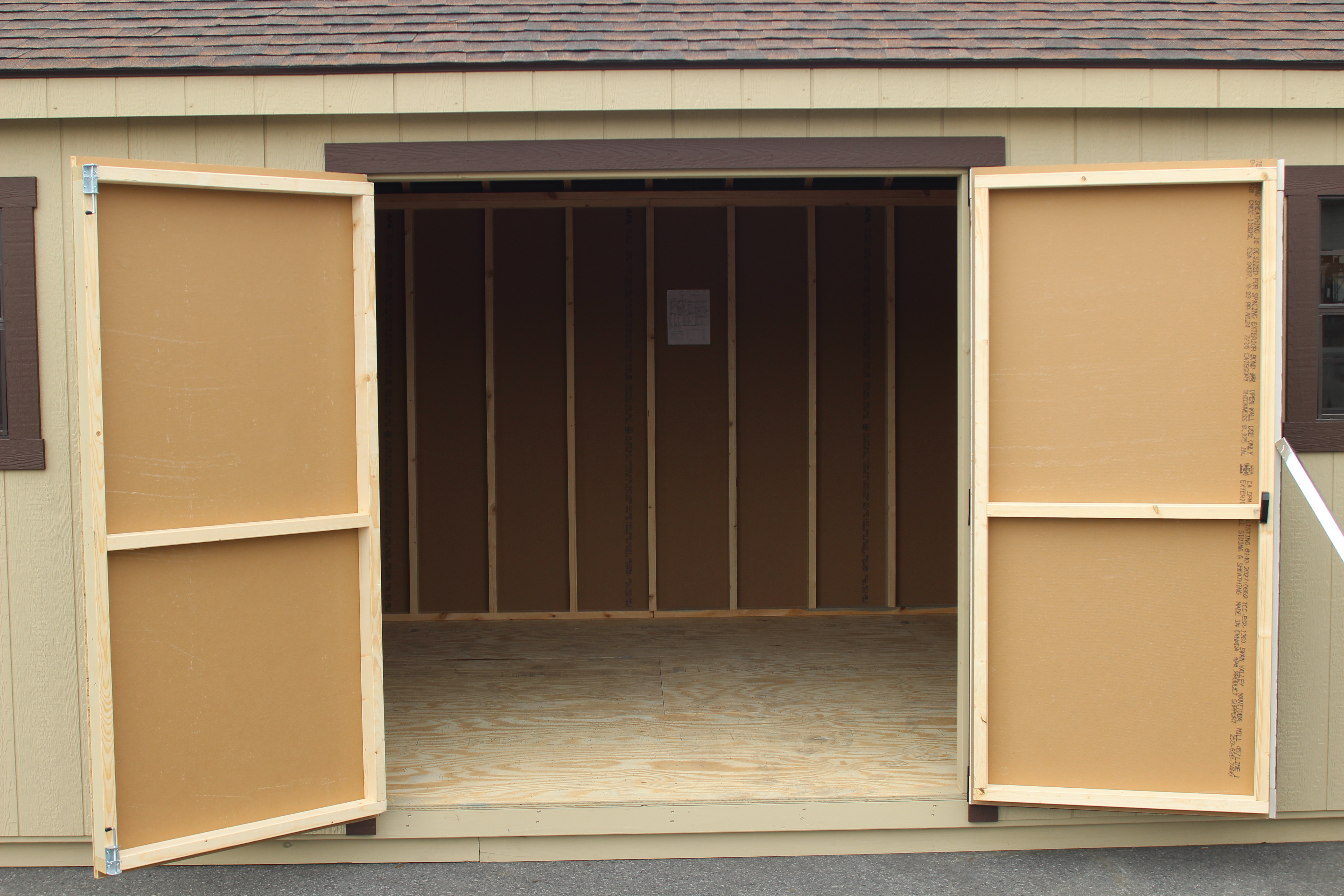 6' Double Doors with Straight Trim