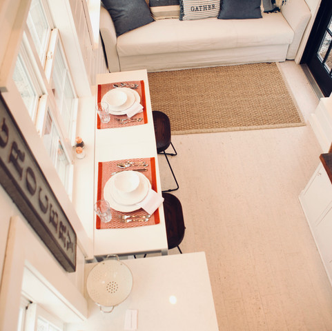 Above interior view of tiny house