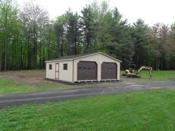 24x26 Wood Modular 2 Car Garage