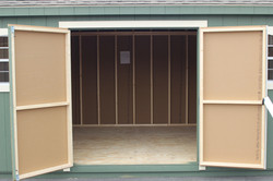 6' Double Doors with Curved Trim
