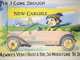New Carlisle Postcard mailed 102 years ago... cost one cent!