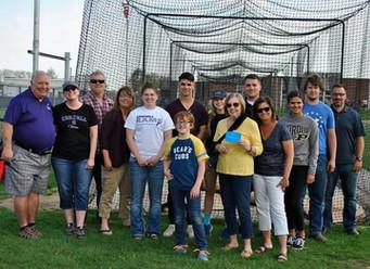 Batting cage dedicated at Tolmen Field