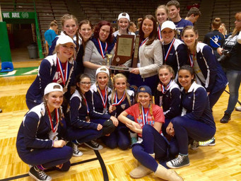 Dance team places third at state