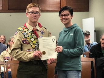 Eagle Scout Honored for Trail