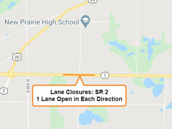 Lane Closures for State Road 2