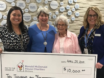 S.A.R.A. Fund Donated to Ronald McDonald House