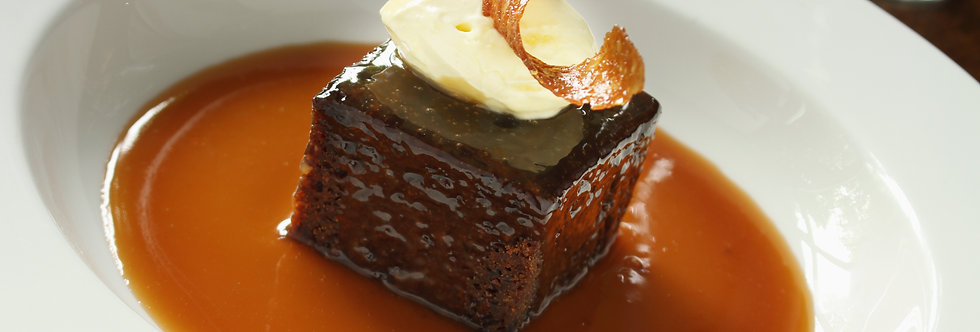 SEIRIOUSLY STICKY TOFFEE & GINGER BEER PUDDING WITH CLOTTED CREAM