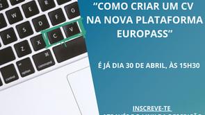 Webinar Europass - 30/04 às 15h30