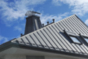 Modern Standig Seam Metal Roof with Roof