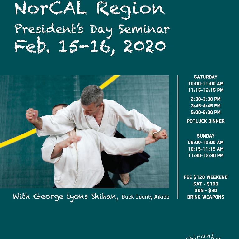 President's day seminar with George Lyons Shihan, Buck County Aikido