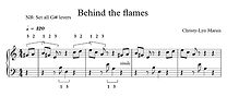 Behind the Flames (Sheet music) with sam