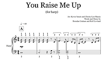 You Raise Me Up Early Intermediate harp