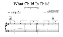 What Child Is This sheet music extract.p