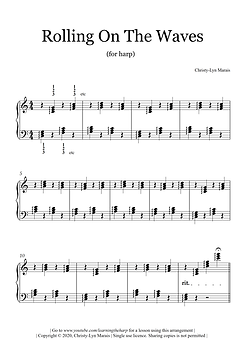 Rolling On The Waves (Harp Sheet Music)_