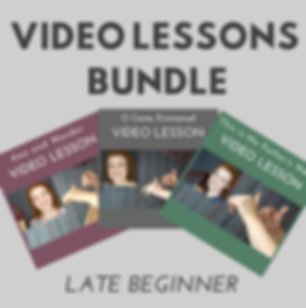 Late Beginner video lesson bundle