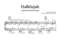 Hallelujah Mid Intermediate Harp Sheet M