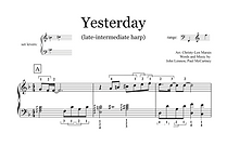 Yesterday (Sheet Music extract) - Late I