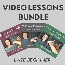 Late Beginner Video Lesson Bundle Thumbn