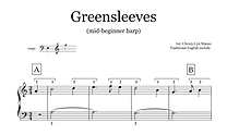Greensleeves sheet music extract.png