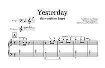 Yesterday (Sheet Music extract) - Late B