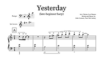 Yesterday (Sheet Music extract) - Late B
