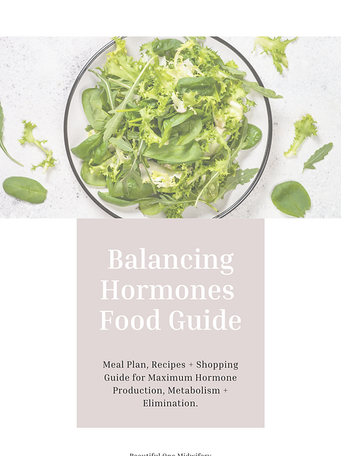 Balancing Hormones Food Guide (digital)