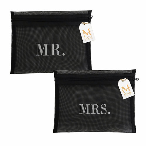Conjunto Necessaire Mr. & Mrs.