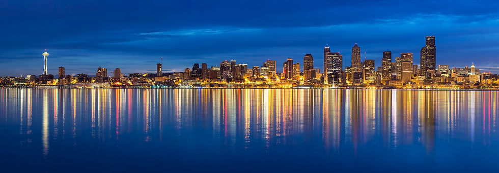 Seattle Skyline and Night -- GettyImages