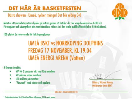 Bidra till Basketfesten i Umeå
