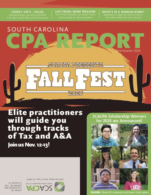 South Carolina Association of CPAs Q3 2020 Magazine