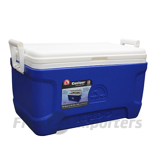 Igloo 52Qt Contour Cooler, Blue