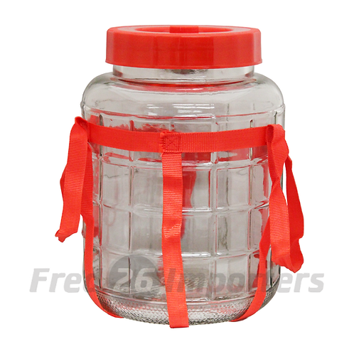 19L (20qts) Glass Bottle with Strap