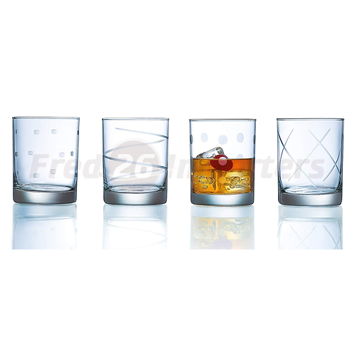 Luminarc Soho 4Pc. Etched DOF Glass Set, 13.25oz.