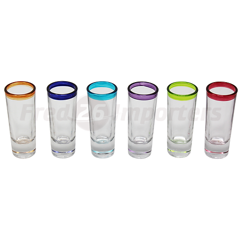 Libbey Mucho Colors Shot Glass, Set of 6