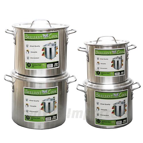 Brilliant Cook 4 Pc. Aluminum Pots (8, 12, 16, 20 Qts.)