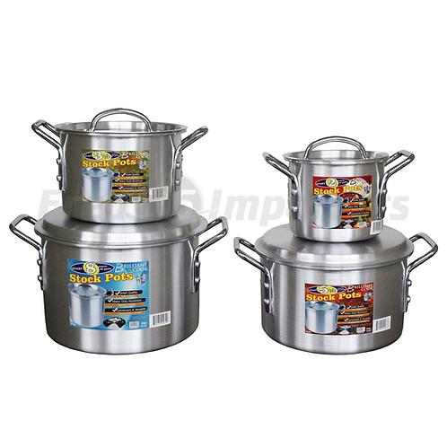 Brilliant Cook 4 Pc. Aluminum Stock Pot (2, 3.5, 5.5, 8Qts)