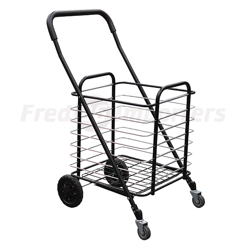 Folding Shopping Cart (Iron & Alum.)