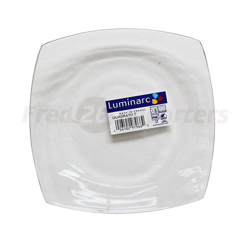 Luminarc Tempered Quadrato Dessert Plate