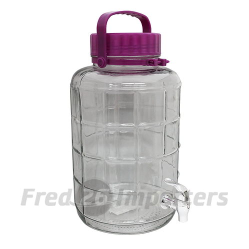 8L (8.4Qts) Glass Bottle with Spout