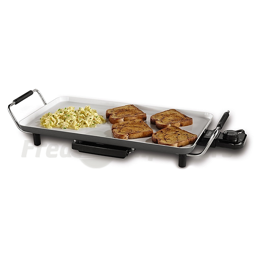 """Oster DuraCeramic Griddle with Warming Tray 10"""" x 18"""""""