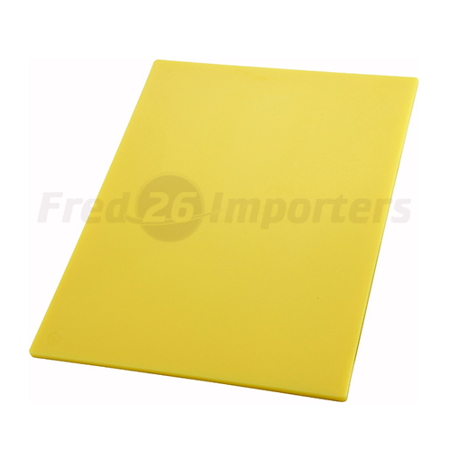 "12"" x 18"" x 1/2"" HAACP Color-Coded Cutting Board, Yellow"